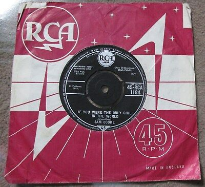 """Sam Cooke  If You Were The Only Girl In The World  UK RCA 7"""""""