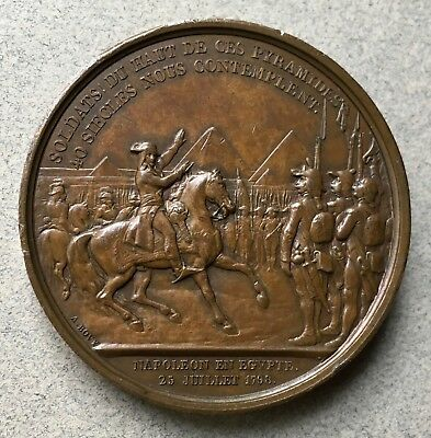 BATTLE OF THE PYRAMIDS CONQUEST OF EGYPT MEDAL NAPOLEON FRANCE 1798 by Bovy