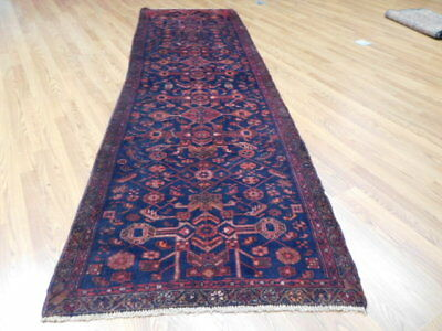 Ca1930s VGDY ANTIQUE PERSIAN LILIHAN MALLAYER SAROUK 3.3x11 ESTATE SALE RUG