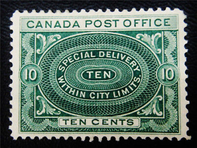 nystamps Canada Special Delivery Stamp # E1 Mint OG H UN$150 VF