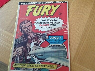 FURY ( BOYS WAR STORIES ) COMIC ( ISSUE NUMBER 1 DATED MARCH 16th 1977 )