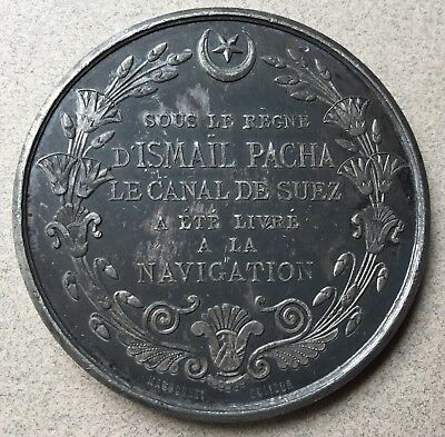 Ottoman Empire Opening Of Suez Canal Medal Egypt Khedive Ismail Pasha 1869
