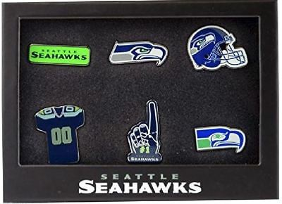Nfl American Football Seattle Seahawks 6 Pin Badge Set