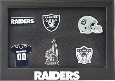Nfl American Football Oakland Raiders 6 Pin Badge Set