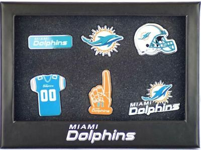 Nfl American Football Miami Dolphins 6 Pin Badge Set