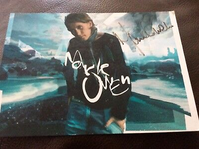 Mark Owen - Take That hand Signed Autographed Take That - postcard