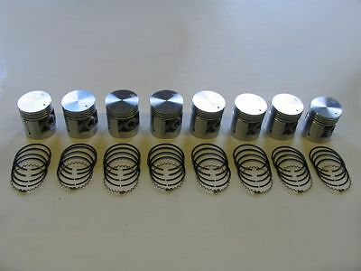 Pistons & Rings 40 41 42 46 47 48 49 50 Packard 8cyl 356 NEW SET