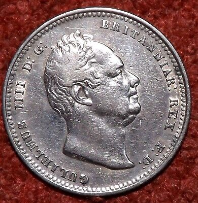 1836 William IV  925 Silver Shilling GOOD Collectible Grade & Detail