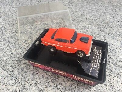 Vintage Aurora AFX 55 Chevy Bel Air Orange HO Slot Car