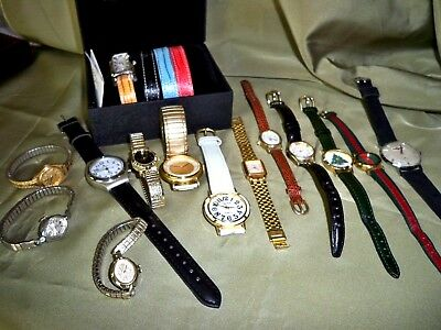 Lot of 12 Watches / Men and Women / vintage and modern / Coldwater Creek Set new