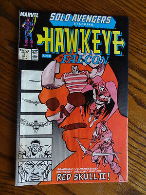 Marvel Solo Avengers Hawkeye & The Falcon- May 1988- #6