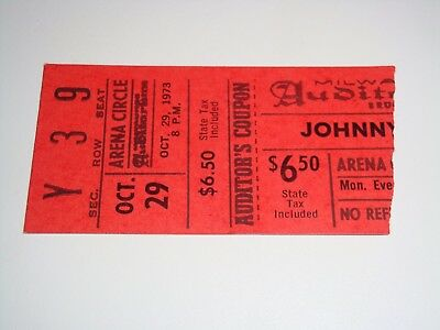 THE JOHNNY CASH SHOW 1973 CONCERT TICKET STUB Milwaukee Auditorium Wisconsin USA