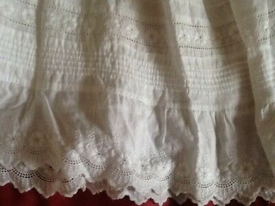 Three Vintage Embroidered Lace Christening Gowns Dolls Dresses