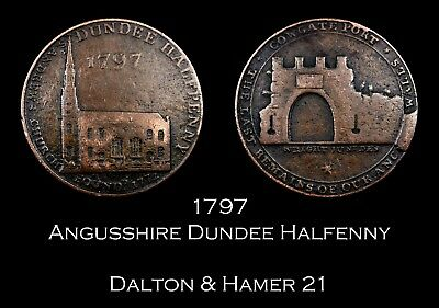 1797 Dundee Conder Halfpenny D&H 21, later die state
