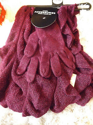 George Sparkle Scarf and Gloves Set New