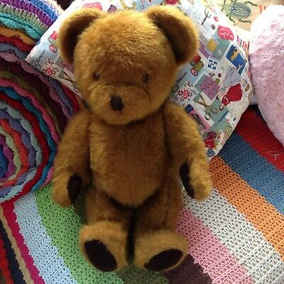 """Large Vintage Jointed Nylena Teddy Bear with Working Growler - 1960s - 20"""" Tall"""