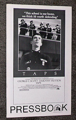 TAPS original 1981 pressbook TIMOTHY HUTTON/TOM CRUISE/SEAN PENN/GEORGE C. SCOTT