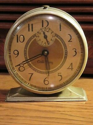 NEW HAVEN CALL BOY ALARM CLOCK - CLEAN EXAMPLE - 1930s - WORKS FINE