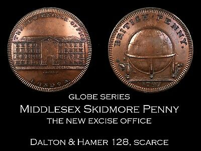 Skidmore Globe Series Middlesex Conder Penny D&H 128, scarce