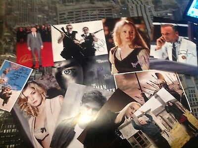 Lot Of Signed Photo Photos Ed Harris Nick Frost Rosamund Pike Gerard Butler Look