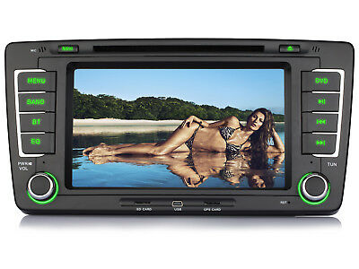 "7"" HD Autoradio Navigation GPS DVD USB MP3 AUTO Radio RDS Für SKODA OCTAVIA 2013"