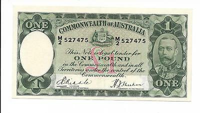 Commonwealth of Australia - 1 pound, nd (1933-38). Choice EF. Pick #22 & R28.