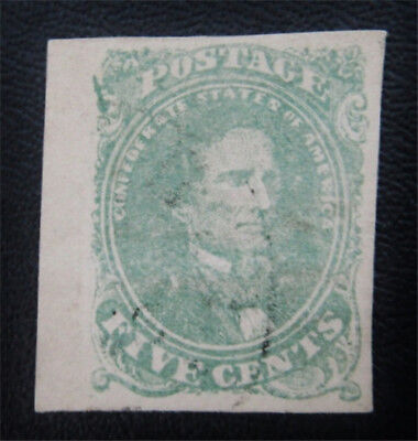 nystamps US CSA Confederate Stamp # 1a Used $200