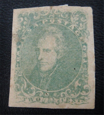nystamps US CSA Confederate Stamp # 3 Mint OG H $900