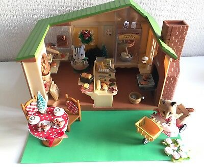 Sylvanian Families Windmill Bakery with Figures And Lots Of Extras.