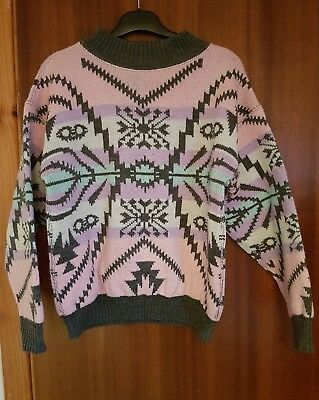 Genuine Vintage Christmas Jumper, reversible, fit 12-14