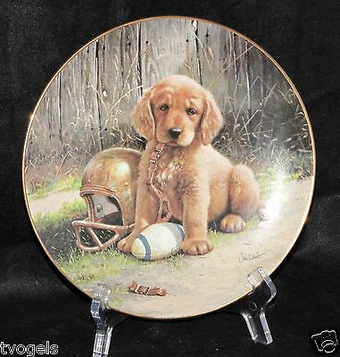 1989 River Shore Good Sports Wide Retriever Dog Pup Jim Lamb Collectors Plate
