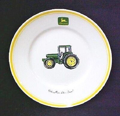 John Deere Tractor Collector Bowl Gibson Nothing Runs Like A Deere Rare Misprint