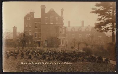 REAL PHOTO POSTCARD QUEEN ANNES SCHOOL CAVERSHAM READING BERKSHIRE c1910