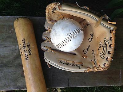 "Rawlings Leather Palm 10"" Cesar Cedemo Deep Arch Baseball Mitt Glove & Ball"