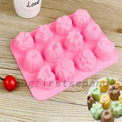 Washable Silicone Chocolate Mold Candy Cookies Cake Ice Jelly Baking Mould Tool