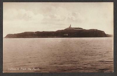REAL PHOTO POSTCARD INCHKEITH ISLAND LIGHTHOUSE FIRTH FORTH FIFE SCOTLAND c1912