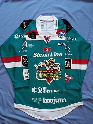 "Official Belfast Giants Ice Hockey Jersey,new,size S,38"" Chest"