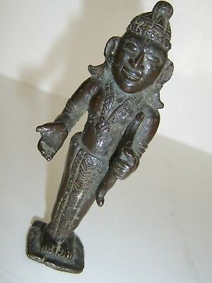 Very Early Rare Antique  Bronze Indian India Deity God Buddha Asia Asian  Figure
