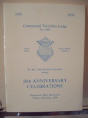 Darlington Commercial Travellers Lodge 50th Anniversary Celebrations Book [1979]