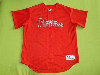 Jersey PHILADELPHIA PHILLIES (XL) MAJESTIC Made in USA !!! PERFECT !!! MLB