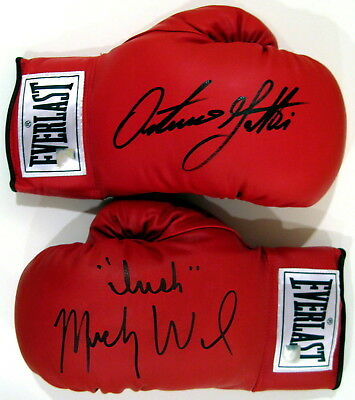 Arturo Gatti & Micky Ward Autographed Signed Everlast Boxing Gloves ASI Proof