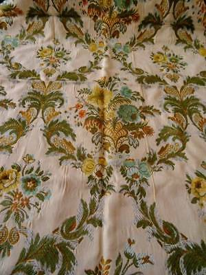 A Beautiful Antique French Lyon woven Brocade Gold Thread Panel C1900