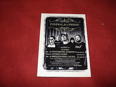 MEMORABILIA: FUNERAL FOR A FRIEND gig flyer postcard