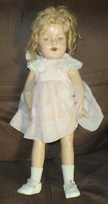 "Vintage Shirley Temple 22"" Composition Doll"