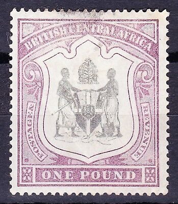 Nyasaland 1897-00 Wmk Crown CC £1 SG51 MINT OG Cat £475 Faults