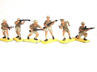 Britains Deetail Full Set of Six British 8th Army Troopers