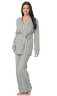 Maternity Dressing Gown Pjs Pyjamas Vest Trousers Size S M Hospital Bag