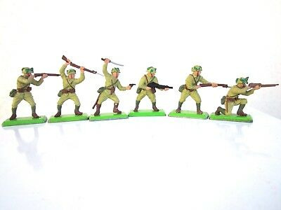 Britains Deetail Full Set Of 6 Japanese Infantry
