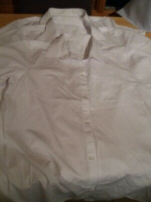 3 boys white short sleeved school shirt age 15/16 F&F used