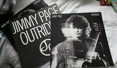 """JIMMY PAGE - OUTRIDER - 3x 12"""" PROMOTIONAL CARDS"""